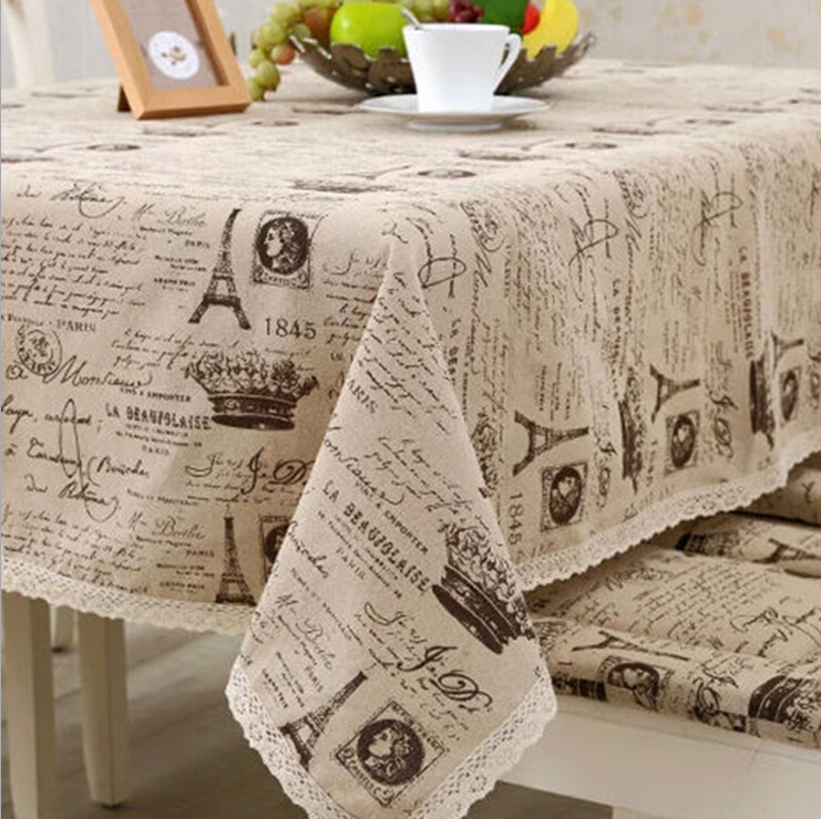 High-grade Factory direct cotton tablecloths European coffee table cover small crown Universal cloth towel wholesale(China (Mainland))