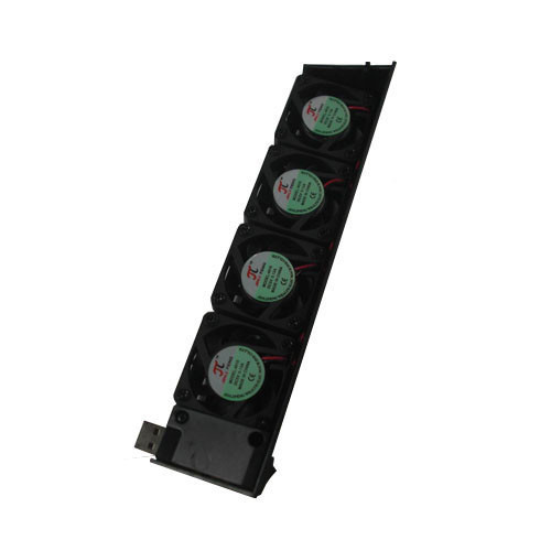 USB Cooling Cooler Fan 4-Fan Automatic Temperature Adjustable for Sony PS3 Console(China (Mainland))