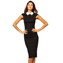 Buy AAMIKAST 2017 Elegant Summer Bandage Bodycon Pencil Dress Patchwork Party Evening Work Dresses Knee-length Size S M L XL 2XL for $14.99 in AliExpress store