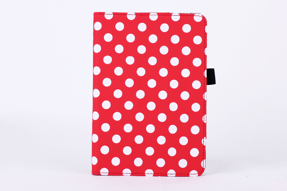 New fashion Polka Dot Pattern Folio Leather Case Stand Book Cover for Amazon New Kindle Fire HD7 2014 with Stylus Slot(China (Mainland))