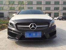 Class W176 Diamand Grill mesh Grille Star Look A180 A200 A260 A45 AMG PP ABS Case Mercedes Benz 2013 2014 2015 2016 - As Motor store