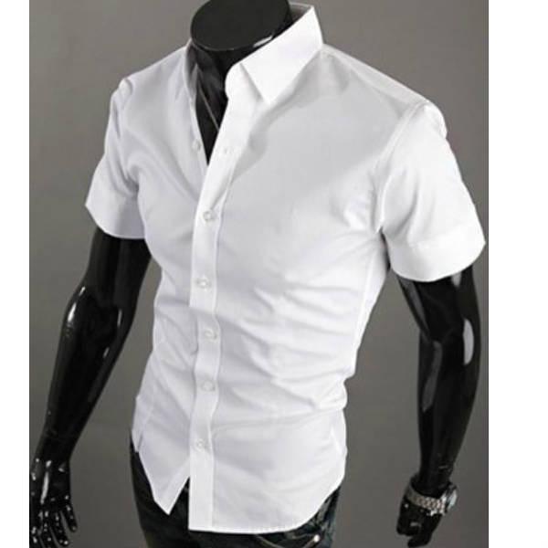 Fashion 2015 business chemise brand men short sleeve shirt mens clothing male hawaiian shirt camisa masculina