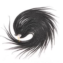 18″30strands two tone crochet braid hair hand-woven afro twist braid Synthetic ombre Kanekalon Kinky Marley Twists braiding Hair