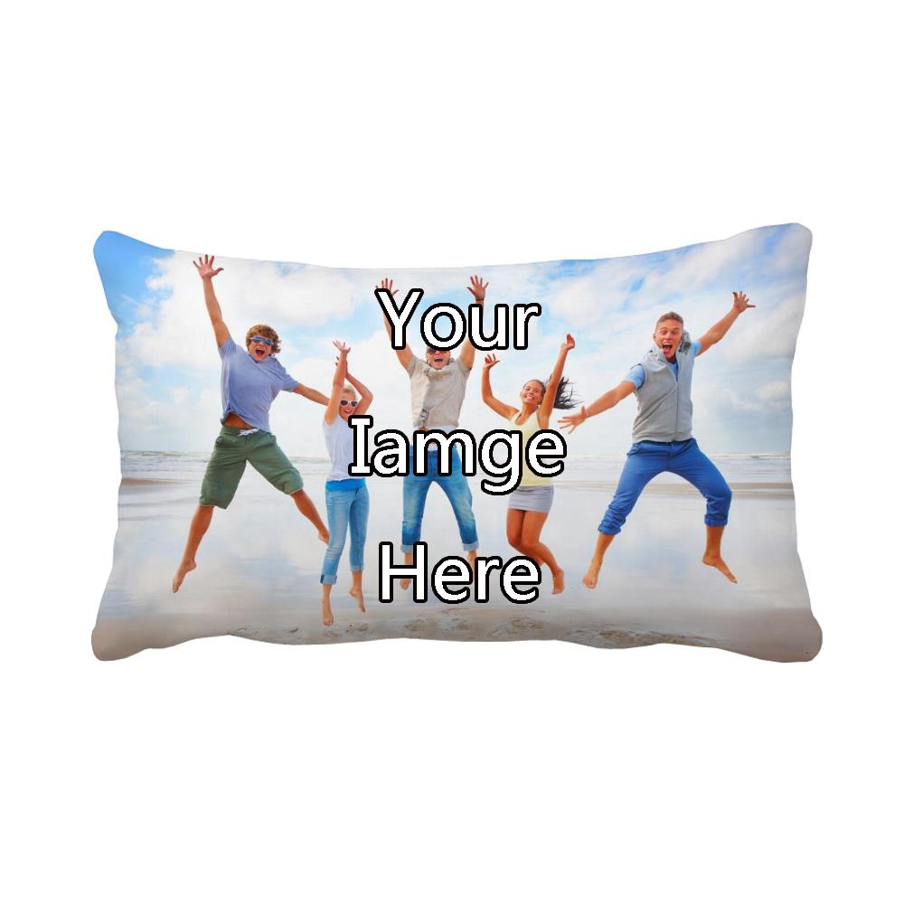Custom Printed Throw Pillow Cases : your image here printed customized decorative cushion cover sofa decoration personalised ...