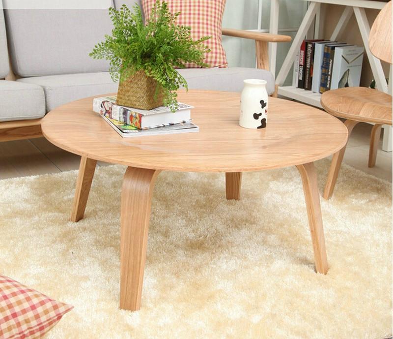 Gebogen hout ronde tafel ronde houten salontafel woonkamer koffietafel hout creatieve tafel - Grote ronde houten tafel ...