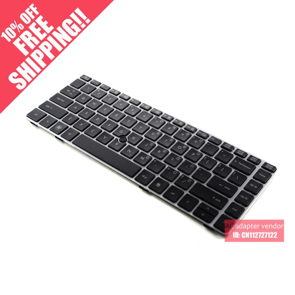 Silver frame Genuine FOR HP FOR HP EliteBook 8460P 8460 6460P 6460B laptop keyboard<br><br>Aliexpress