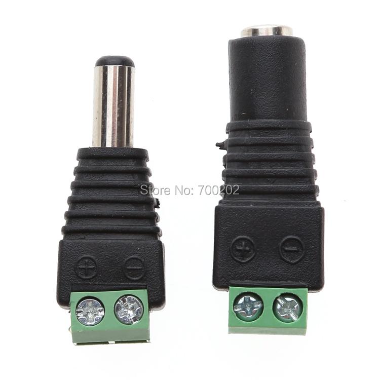100 PAIRS 12V Male+Female 2.1x5.5MM DC Power Jack Plug Adapter Connector for CCTV  DC Power Female Plug Jack + Male Plug Jack<br><br>Aliexpress