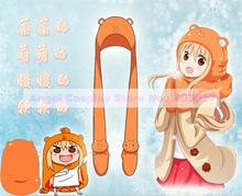 3 IN 1 Flannel Winter Hat+Scarf+Gloves of Anime Silver Soul and Umaruqian Style in stock free shipping(China (Mainland))
