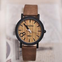 Recién llegado de japón miyota 2015 movimiento de pulsera de cuero de la pu de bambú de madera relojes para hombres y mujeres regalos de la navidad
