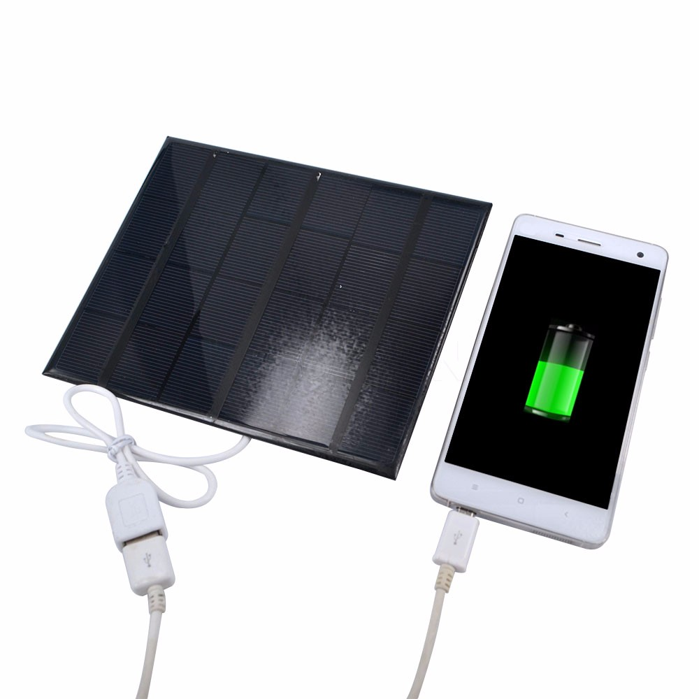 2017 Portable 6v 3.5w 580-600MA Solar Panel USB Travel Battery Charger For iPhone 4 4s 5 5s 6 Mobile Phone USB Multimedia
