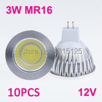 1 high power LED Spotlight ,3W COB MR16 Light, 12V 3200K Warm / Natural Cold White lighting bulb lamp +