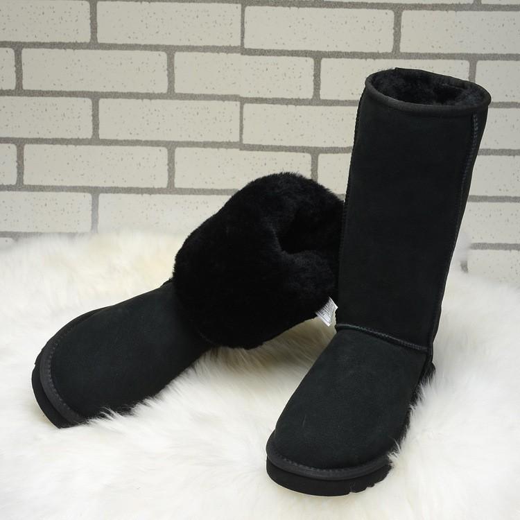 ซื้อ ผู้หญิงที่ทำด้วยมือธรรมชาติขนหิมะบู๊ทส์แท้100%หนังแกะShearlingผู้หญิงบู๊ทส์หญิงอุ่นให้รองเท้าฤดูหนาวGN02