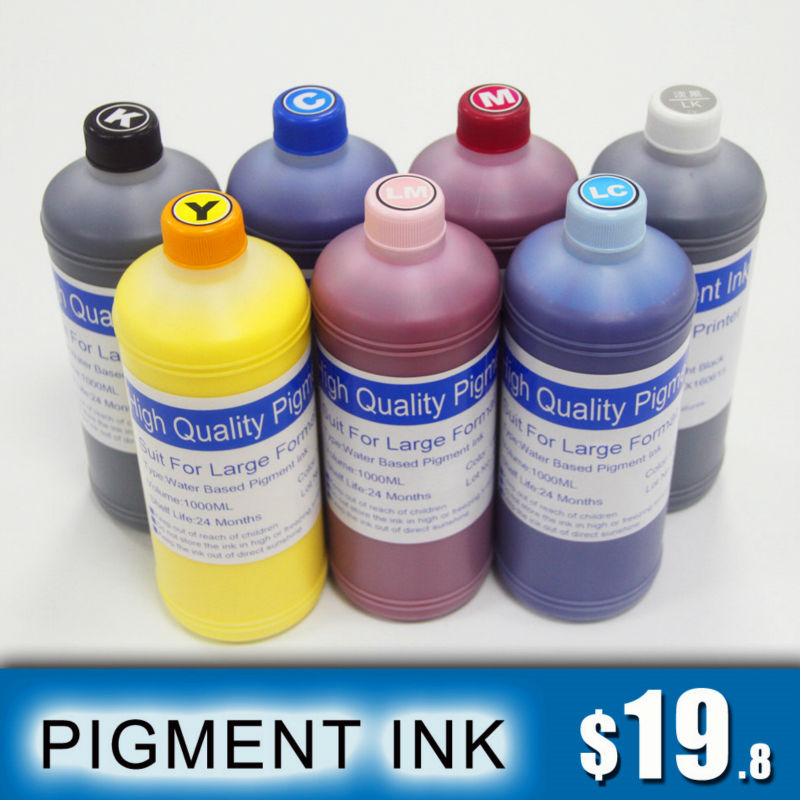 9 Colors x 1 Liter Pigment Ink For Epson 3800 3800C 3850 3880 3885 3890 Printer(China (Mainland))