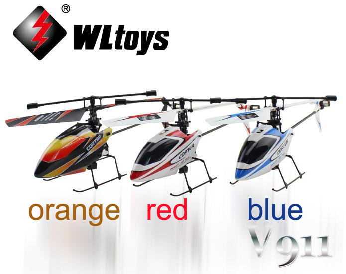 hot selling WL V911 RTF 4CH 2.4G Mini Radio single blade RC Helicopter with Gyro LCD display WLtoys p2(China (Mainland))