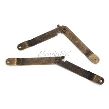 8pcs Bronze Iron M Size Lid Support Hinge Stay For Boxes Cases Display  (China (Mainland))