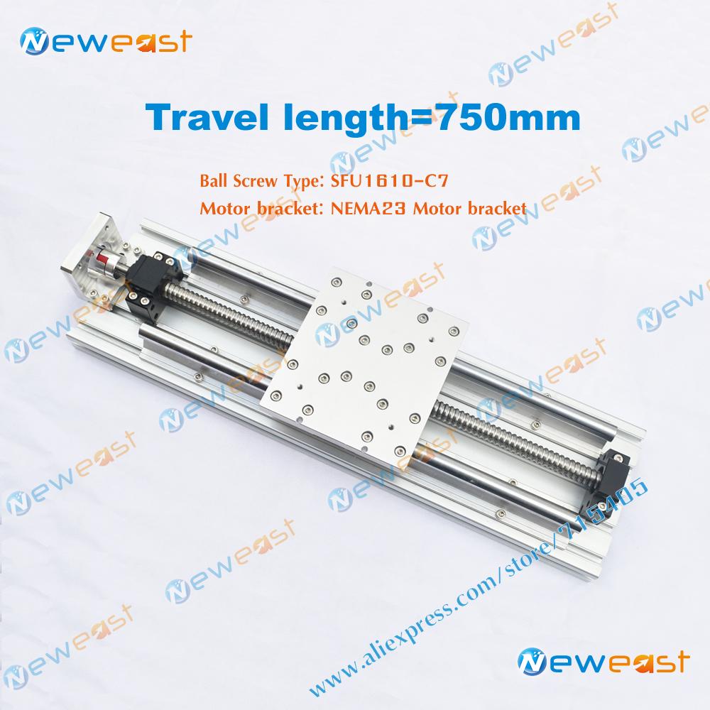 Diy CNC Router part 750mm Travel Length SFU1610 ballscrews Linear Module Actuator System linear Stage Slide Module(China (Mainland))