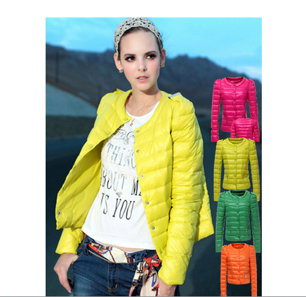 new 2014 slim winter o-neck single breasted short design down coat/ small cotton-padded down jacket 4colors ,free shipping(China (Mainland))