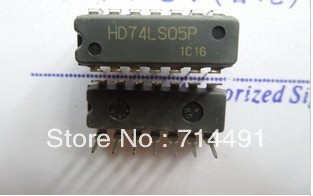 Open collector HD74LS05P 74LS05 Free shipping  New and Original