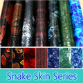 Free Shipping 0 5M Wide Snake Skin Water Transfer Pringting Films Aqua Print Films For Motorcycle