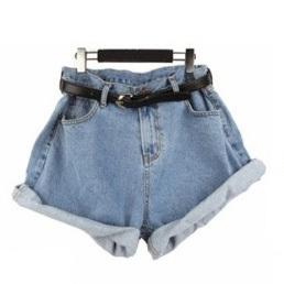 2016 лето мода старинные высокой талией джинсовые шорты джинсы - подол леди размер ...