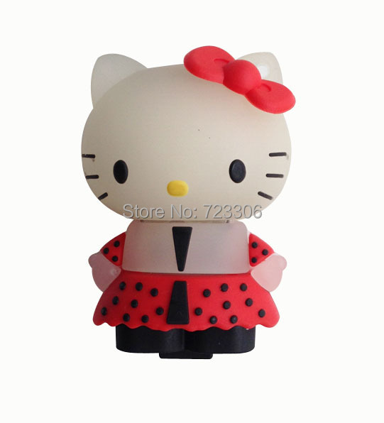 Free Shipping pen drive hello kitty cat 64GB 32GB16GB 8GB 4GB Rubber USB Flash 2.0 Memory Drive Sticks Pen Disk(China (Mainland))