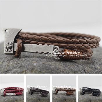 Low0225lb дизайн винтажный персонализированные AX плотничий топор кожа браслет для ...
