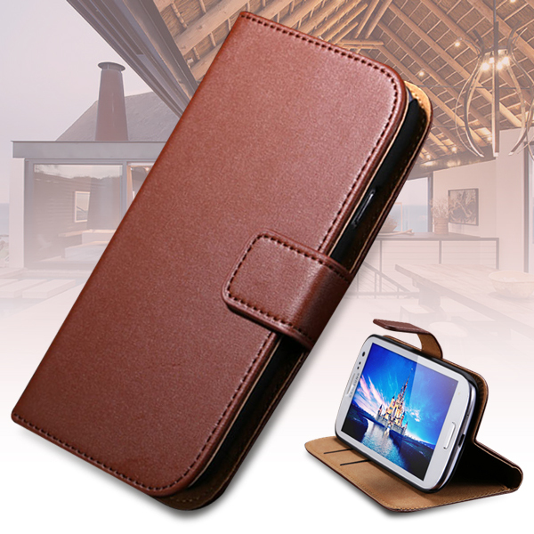 New items For Samsung Galaxy S3 III i9300 Luxury Genuine Leather Case With Card Holders Wallet Stand Flip Back Cover RCD01247