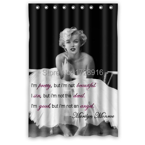 Home necessary bathroom curtain thicken anti-water famous American sex goddess Marilyn Monroe shower curtain 48x72(China (Mainland))