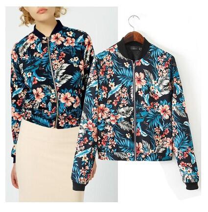 Floral Bomber Jackets