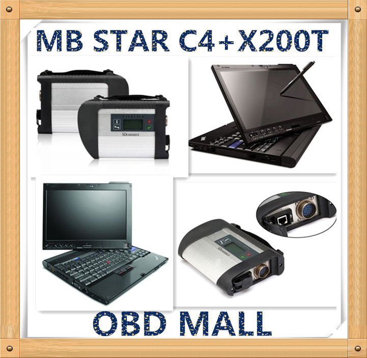 MB STAR C4 SD Connect diagnostic tool with X200T laptop installed DAS/XENTRY/EPC/WIS V2015.05 c4 software HDD Best tech support(China (Mainland))