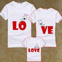 Summer Matching Family T Shirt Set Mother Son Matching T Shirts Kids Cute Dog Tee Boy Men Women Couples Matcing T-shirts Clothes