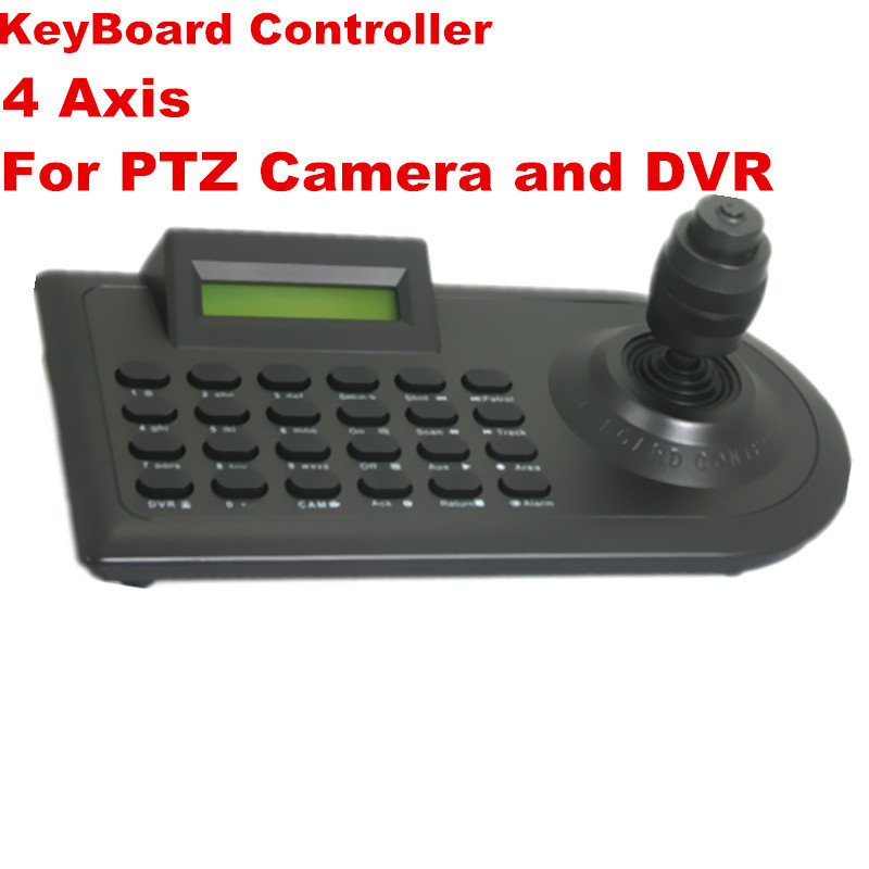 Free Shipping DHL/EMS: High Speed PTZ Camera 3D 4 Axis joystick Keyboard Controller LED RS-485 16Keyboards 32PCS CCTV Camera(China (Mainland))