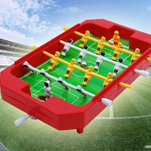 Mini kids tabletop football toy machines 4 pole desktop toys games Soccer Table Football Ball for Home entertainment party(China (Mainland))