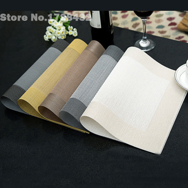 Fashion Print PP Placemat Coasters Pads Dining Table Mat Heat Insulation Dining Table Mat Placemats Silicone Mat W7 47 C0018(China (Mainland))