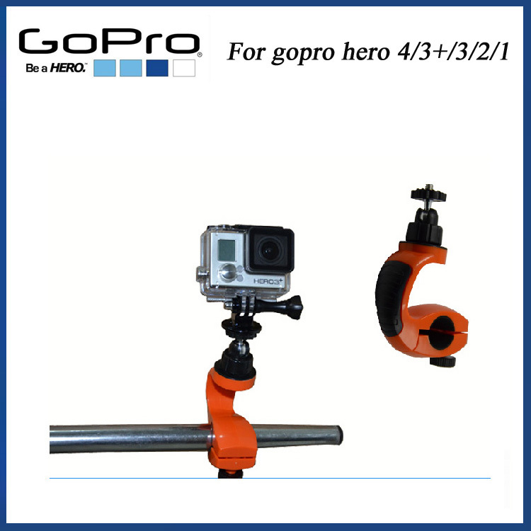2015 NEW Bike Mount with Tripod Adaptor Screw for gopro hero 3 go pro camera go pro accessorires for gopro hero 4 SJ4000 camera(China (Mainland))