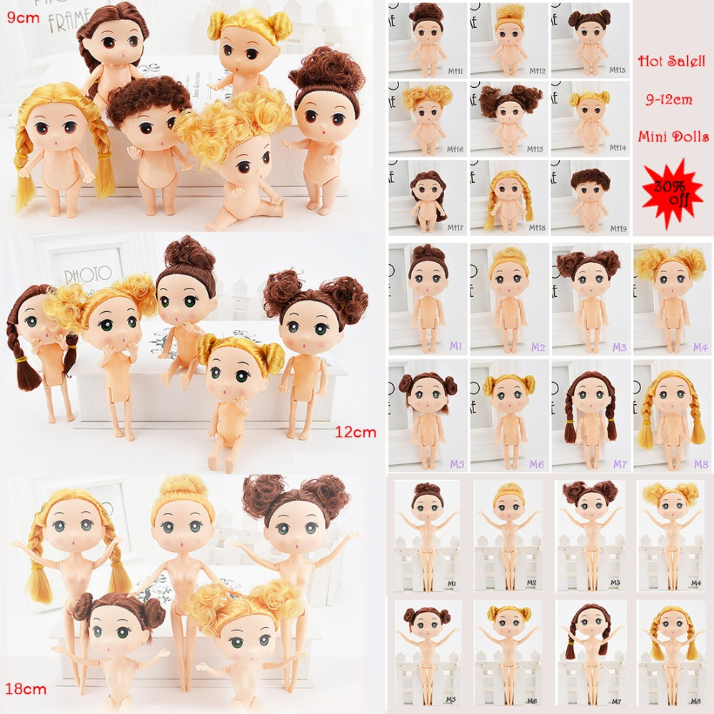 9-18cm Mini Dolls With Brown Golden Hair 25 Style Choose Cute Ddung Cheap Dolls For Girls Toy Birthday Present Christmas Gift(China (Mainland))