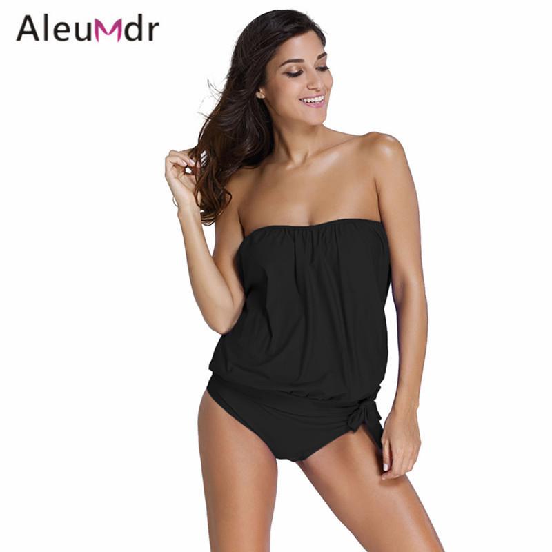 Aleumdr Removable straps with pad Swimming Suit Women 2016 Maillots De Bain Femmes 2 PCS Bandeau Tankini Swimsuit Sets 41917