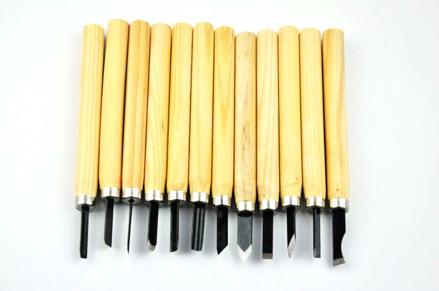 12 Set mini Wood Carving Hand Chisels Tools Kit For carpenters, wood turners(China (Mainland))