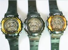 New 2015  Girl Boy Sport Digital LED Quartz Alarm Day Date Gel Silicone Wristwatch