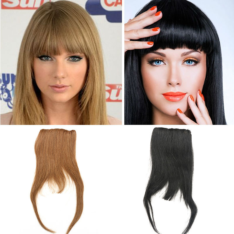 Clip In Human Hair Bangs 25g All Colors Human Hair Clip Bangs 100% Remy Clip In Fringe Human Hair Extensions(China (Mainland))