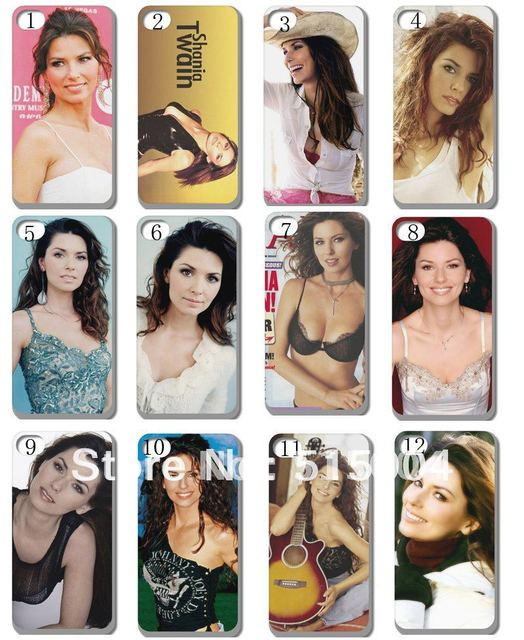 New Shania Twain  Case Hard Back Cover For Iphone 4 4s 4g 10PCS/lot+free Shipping