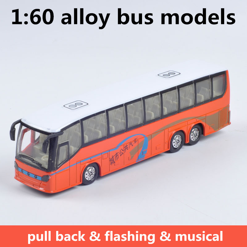 1:60 alloy bus models,high simulation city bus models,metal diecasts,toy vehicles,pull back & flashing & musical,free shipping(China (Mainland))