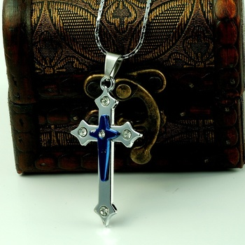 N018 necklace short design titanium cross lovers necklace small accessories