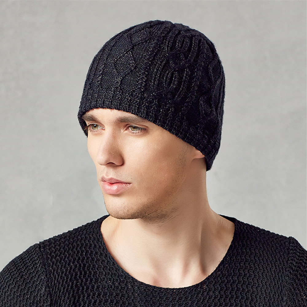 Kenmont Winter Men Male Warm Outdoor Wool Acrylic Earflap Ski Hat Knit Skull Beanie Cap 1572 - kenmont Official Store store