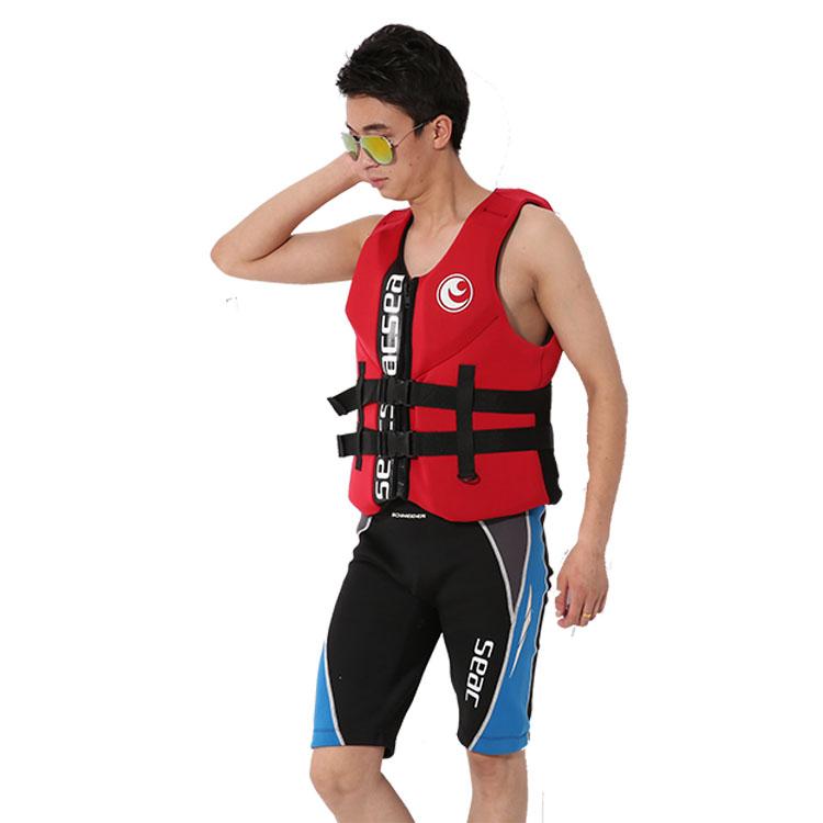 Hisea Professional Neoprene Jacket Life Vest Fishing Life Vest PFD Inflatable Life Jacket For Adults Swimwear Swimming jackets(China (Mainland))
