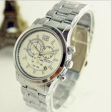 Nuevo 2015 marca nauticaing cuarzo oro plata relojes hombres de negocios reloj de lujo de mujer relojes hombres llenos de acero del reloj del envío gratis