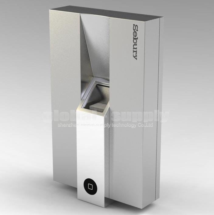 DIYSECUR Metal Frame Fashion Safe Remote Control Biological Fingerprint Recognition Door Lock Access Controller Kit SF-01(China (Mainland))