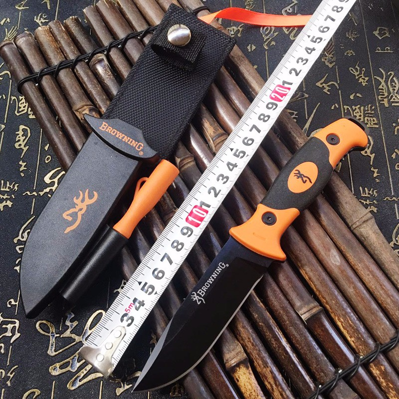 Buy Multifunction Tactical Straight Knife Fixed Blade Knives Outdoor Survival EDC Pocket Tools with Whistle Grindstone ABS Sheath cheap