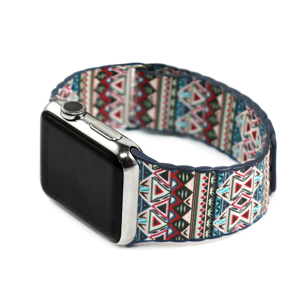 Fashion Bohemian Leather Loop Watchband for iwatch bands Strap Magnetic Stainless steel Buckle for Apple Watch 38mm 42mm