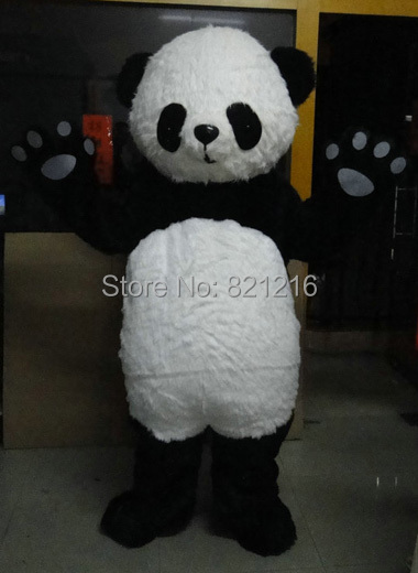 Wholesale Adult size New version Chinese Giant Panda Mascot costume Christmas Mascot costume Free Shipping(China (Mainland))